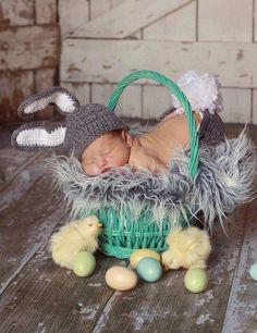 Easter baby sleeping