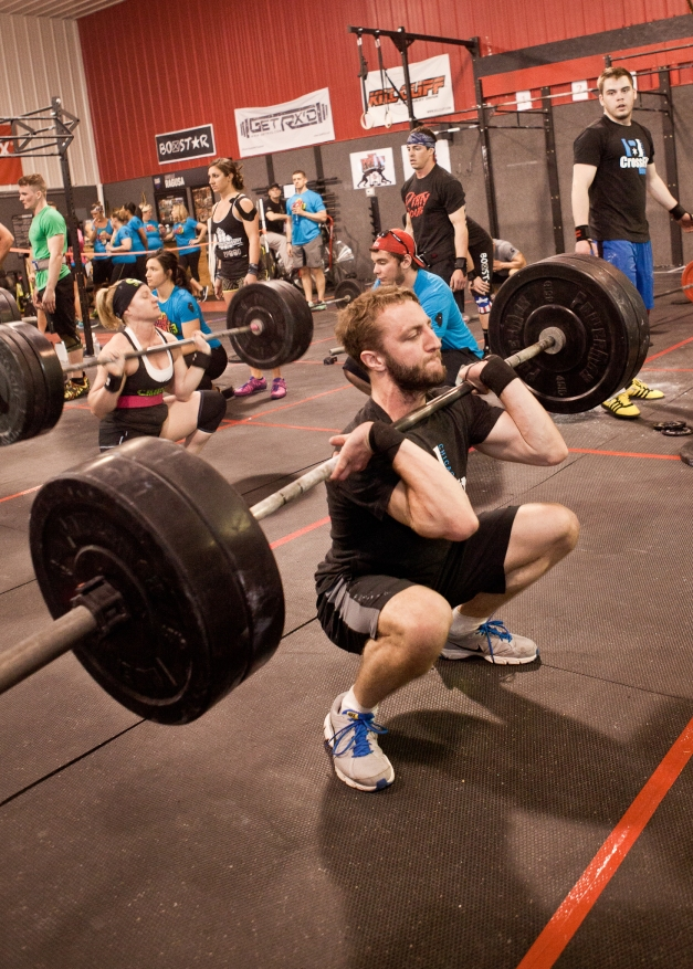 Dave Cleans 205# at The Event