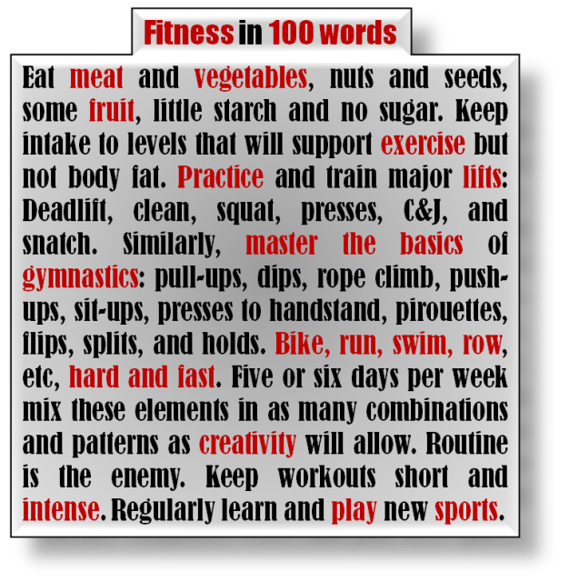 Fitness in 100 word