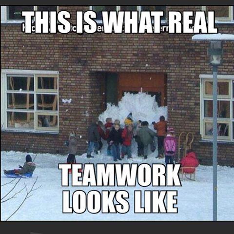 snowy-teamwork